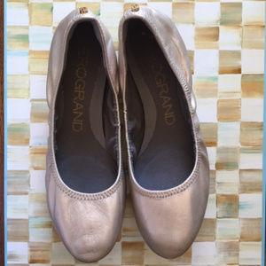 Soft Gold Metallic Ballet flats - Zerogrand